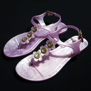 """NEW Coach """"Paisley"""" floral jelly sandals"""